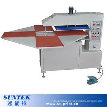 Máquina automática de transferencia de calor rotatorio con 4 estaciones trabajando