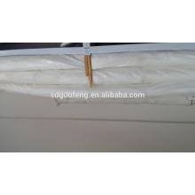 100% weißer Baumwollsatin-Streifen-Gewebe-Hotelbettwäsche Leinen / Satinstreifengewebe für Bettwäsche sets / Bett Satin-Hotel-Leinenbettdecke