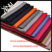 2015 nouveau produit solide écharpe faite main en cachemire