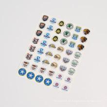 Etiqueta engomada de resina de epoxy de cúpula clara 3D personalizada
