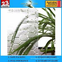 3-8mm klar Bienenstock gemustertes Glas mit AS / NZS2208: 1996