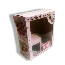 Gift packing box with PET window