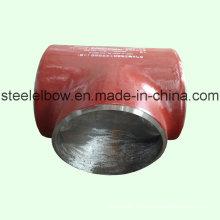 Instalaciones de tuberías de acero Tee igual estándar de carbón