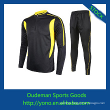 Top quality spandex & polyester materials long sleeve soccer jerseys cheap