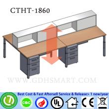 projete sua própria mesa do computador mesa de escritório ajustável de superfície contínua acrílica do parafuso da altura sólida