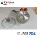 Juegos de utensilios de cocina de recubrimiento de mármol 6pcs con mango de silicona