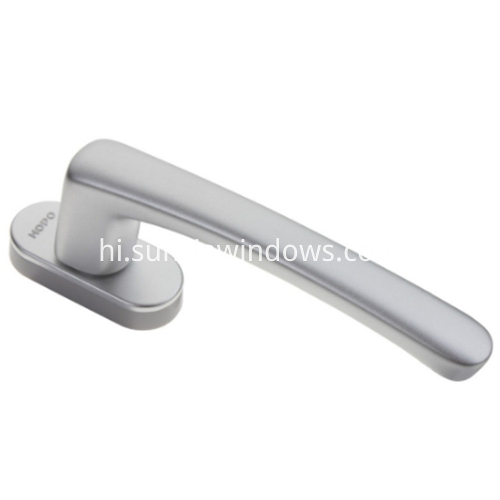 succinct durable modern casement windows door square spindle handle silver