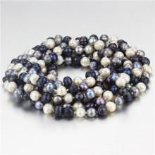 Snh 100inches lange Mischfarben-Korn-Perlen-Halsketten-Schmucksachen
