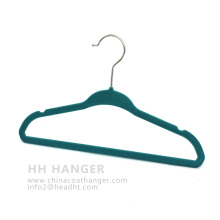 China Colorful Matt Velvet Flocked Baby Hanger for Childrens′ Clothes