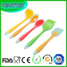 Silicone Baking Set Spatulas Spoons Turner Ladle Heat Resistant Cooking Utensils