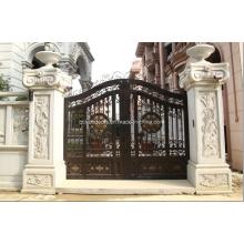 Portes d'entrée de sécurité en métal forgé avec porte de sécurité en métal de style chinois
