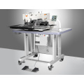 dual needle sewing machine with touch panel control