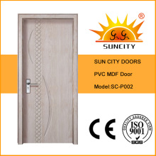 PVC-Oberfläche Wohnung Holztüren Design