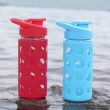 Novedad Durable botella de agua de vidrio borosilicato