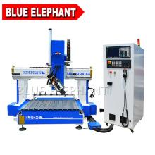 Bleu éléphant de haute qualité grand axe z 1212 routeur cnc avec table de fente en aluminium t