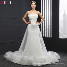 Q-027 High Quality Strapless 2016 Lace Mermaid Wedding Dress