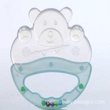 funny silicone baby toy teether