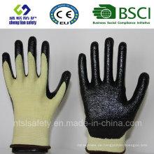 13G Kevlar Liner mit Schaumstoff Nitrilbeschichtung Arbeitshandschuhe