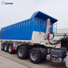 Remolque de volquete trasero para transporte de materiales de construcción
