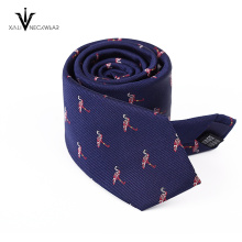 Cravate personnalisée en gros faite sur commande de logo d'OEM