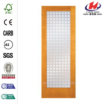 Stained Vision Panel Folding Glass Shower Doors