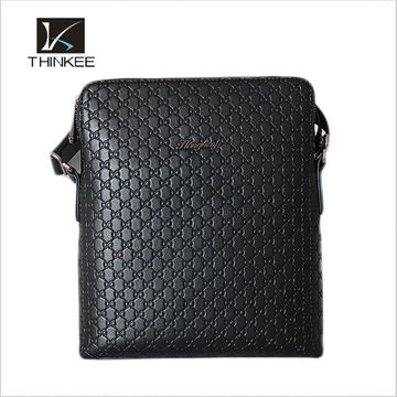vertical trend cow leather small handbag crossbody handy shoulder bag wholesale for business man