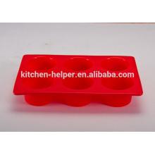 Heißer Verkauf 6 Schalen Nahrungsmittelgrad-hitzebeständiger non-stick Neuheit-kleiner Kuchen-Backen-Silikon-Muffin-Wanne