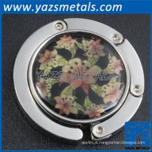 Promoção de metal redonda de design personalizado Gancho de bolsa de dobramento