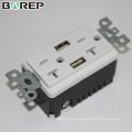 BAS20-2USB UL listé prise standard 20A 125V gfci prise électrique