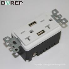BAS20-2USB индивидуальные электрические розетки смарт разъем нескольких розетка