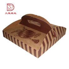 Boîte de pizza de carton ondulé de carton carré bon marché direct d'usine avec la poignée