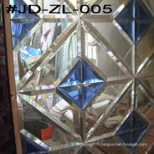 Blue Crystal Glass Mirror Tile for Room Decor