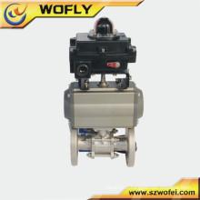 Type de bille industrielle DN 25 ss304 vanne d'eau électrique