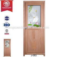 China Cheap Custom Waterproof Plastic Doors pour toilette ou salle de bain ou cuisine