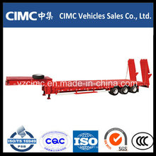 Cimc Manufacture Hydraulic Low Bed Trailer
