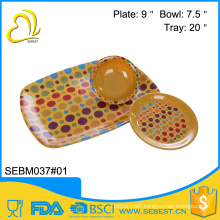 wholesale melamine bread dinnerware sets bamboo serving tray