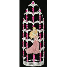 20 Inch Pink Rhinestone Beauty Princess Crown Queen