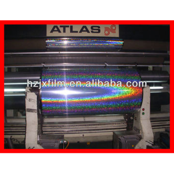 silver PET holographic metallized film