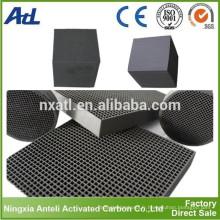 Filtres à air à panneau de charbon actif Honeycomb