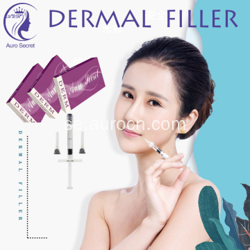 Dermal fillers injektion hyaluronsyra