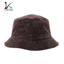 Sombrero de playa personalizado, sombrero de cubo de pana en blanco con su propio logotipo