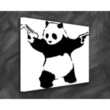 Panda mit Gewehr PoP Art