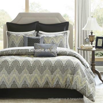 Madison Park Paxton edredão capa de edredão jacquard conjunto de cama amarela