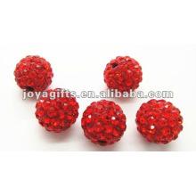 Boule de cristal d'argile shamballa de 10 mm, perles rondes shamballa