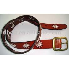 Brown-Frauen-Art und Weisegurte echtes Leder Gürtel