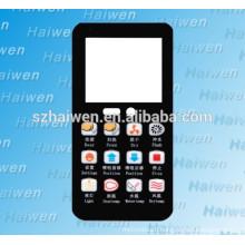Screen Printing PET/PC LCD membrane keypad panel, custom plano convex lens nameplate
