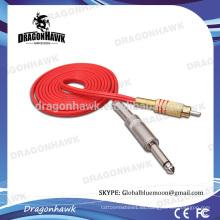 Venta al por mayor Rotary Profesional tatuaje máquina clip de cable de color rojo