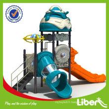 2014 vente à chaud d'enfants amusement aire de jeux coulissante équipement de jeu extérieur LE-JG008