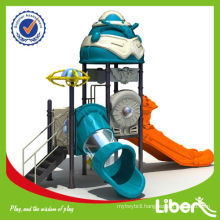 2014 hot selling outdoor children amusment playground slide equipment Outdoor Play Structure LE-JG008