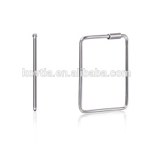 Wholesale 925 Silver Jewelry Elegant 925 sterling silver rectangle earring